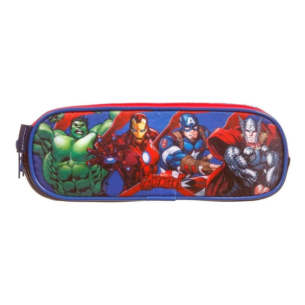Estojo-Avengers-Soft-3-Divisoes-
