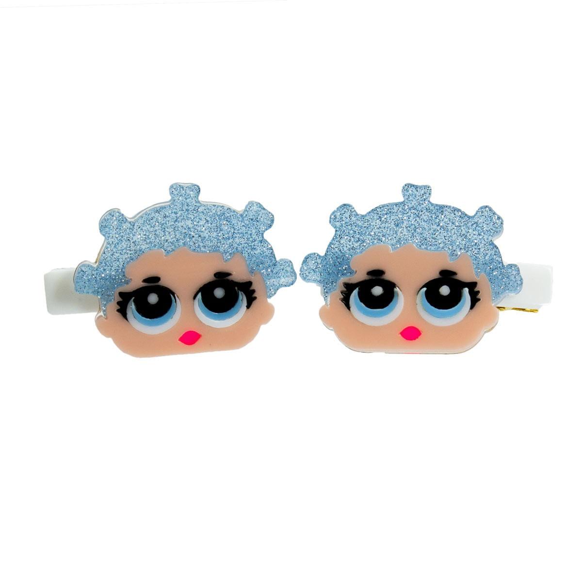 Presilha-Infantil-Lol-Surprise-Boneca-Cabelo-Glitter-Azul-Ludique-et-Badin