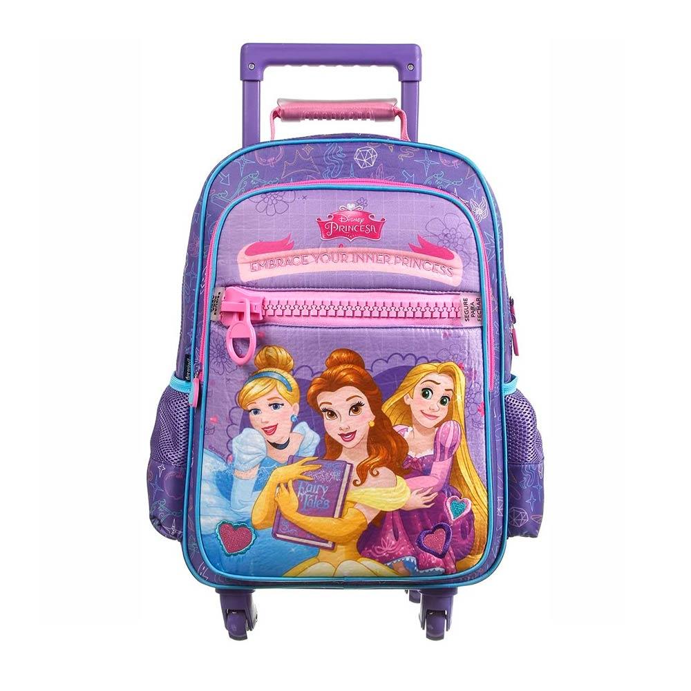 Mala Escolar Disney Princesas com Rodinhas 360