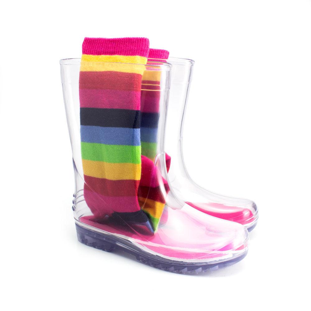 Galocha-Infantil-Transparente-Ludique-et-Badin-com-Meia-Rainbow--25-ao-32--4090-904--INV21-