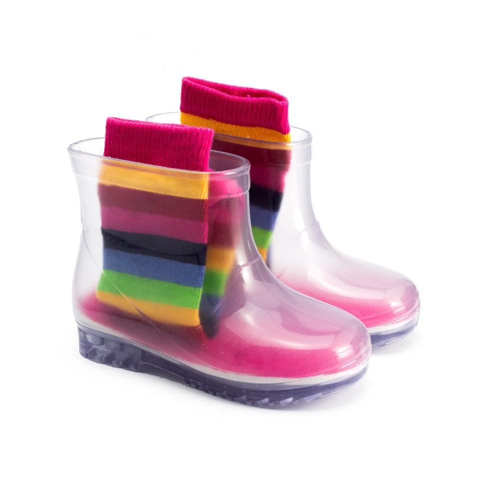Galocha-Infantil-Transparente-Ludique-et-Badin-com-Meia-Rainbow--19-ao-24--44039-904--INV21-