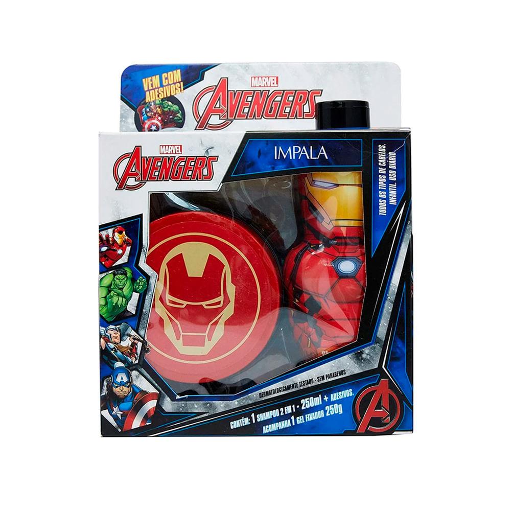Kit-Marvel-Avengers-Iron-Man-Shampoo-2-em-1---Gel-18301--INV21-