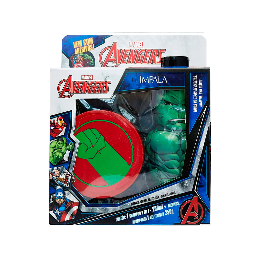 Kit-Marvel-Avengers-Hulk-Shampoo-2-em-1---Gel-18299--INV21-