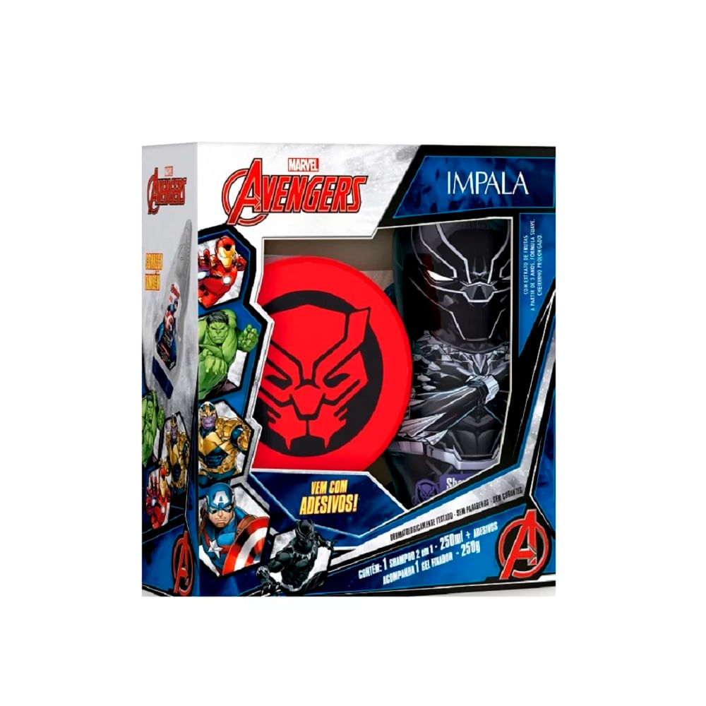 Kit-Marvel-Avengers-Pantera-Negra-Shampoo-2-em-1---Gel-19324--INV21-